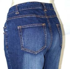 D'Mode Classic Blue 6 Pocket Cargo Boot Cut Denim Jeans Womens Size 8 Medium