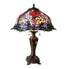 Chloe Lighting Tiffany Style Roses Table Lamp CH18340RF20-TL3