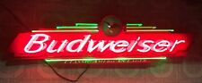 New listing Vintage Budweiser Beer Neon Bar Sign Crafted Fallon 1998 serial #0198 Usa Light