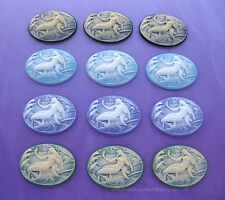 12 Fantasy MERMAID Cameos (4 Color Lot) 40mm x 30mm Costume Jewelry Craft CAMEO