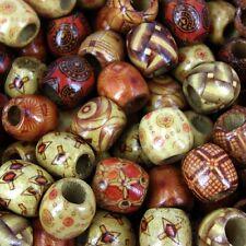 500 X Wholesale Bag Wooden Dreadlock Assorted Drum Wooden 14x16mm Beads W145