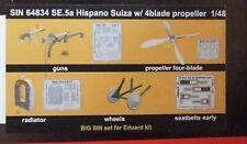 EDUARD 1/48 BIG SIN SE.5a Hispano Suiza w/4blade prop 5 BRASSIN SETS (SIN 64834)