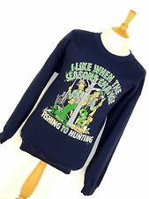 MENS VINTAGE FISHING HUNTING COMEDY REDNECK DUCK DYNASTY SWEATSHIRT JUMPER XL