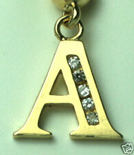 """Belly Navel Ring Sexy Body Jewelry New Initial """"A"""" Solid 14K Yellow Gold"""