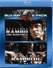 Rambo: First Blood II Rambo: First Blood III BLU RAY FLAWLESS FREE SHIPPING