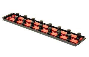 "Ernst 8458 3/4"" Drive ""Socket Boss"" 2  18"" Rail Socket Organizer Tray - Red"
