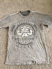 Affliction Mens Grey short sleeve t shirt size M