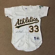 Jose Canseco Signed Auto Oakland Athletics Russell Authentic Jersey PSA DNA COA