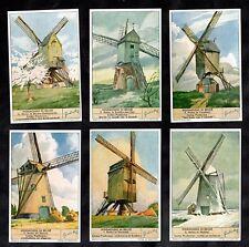 Windmills Cards Set 1942 Liebig Wind Power Mill Farming Flour Wheat Sail Moulin