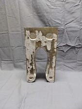 One Small Antique Shabby Wood Corbel Roof Bracket Old Vtg Chic 297-18P