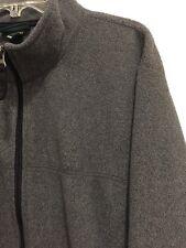 L.L.Bean Fleece Full Zip Front Jacket Gray Mens Size XL Extra Large Regular
