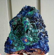 Natural Indigo Blue Azurite Malachite Crystal Rosette  LiuFeng Shan, China 1165G