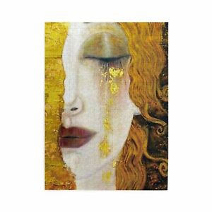 1000 Pieces Freya's Golden Tears Gustav Klimt Art Wooden Jigsaw Puzzle DIY Game
