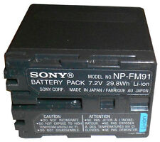 ORIGINALE Sony np-fm91 BATTERIA ORIGINALE NP-FM90 FM50 qm91d DCR-PC110 DVD100 TRV530