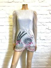 Asos Rare Unmade Sample One Of A Kind Floral Lace Mini UK 10
