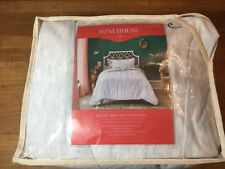 Opalhouse Ruched Jersey Duvet Cover Set Twin / Twin XL Light Gray