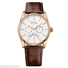 NEW HUGO BOSS HB 1513125 MENS ROSE GOLD HERITAGE WATCH - 2 YEAR WARRANTY