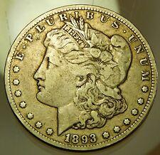 1893 CC Carson City Morgan Silver Dollar - VF !!