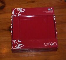 """New ListingCiroa Red Dinner Plates Stoneware 10"""" New Set of 4"""
