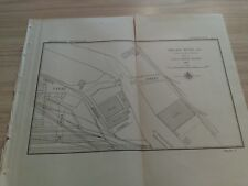 1897 Chicago River Channel  Canal Street Bridge Coal Dock Illinois Diagram Map