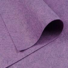 Woolfelt Heathered Purple ~ 22cm x 90cm / quilting wool felt fabric heathered