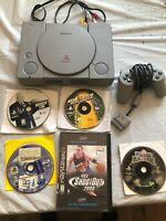 Sony Playstation 1 Scph-1001 Console With Controller & 5 Games Bundle
