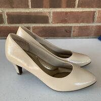 New Coach and Four nude slip on pump heels Women's Size US 6 M Round Toe