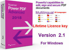 Nuance Power PDF Advanced Key- Edit, Sign ,Secure PDF documents-Digital Delivery