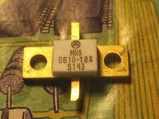 MRA0610-18A NPN Si RF POWER TRANSISTOR 2.5A 50V 1GHZ Max 18W MOTOROLA  1PCS
