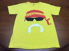 Hulk Hogan Hulkamania Yellow Shirt Adult Small