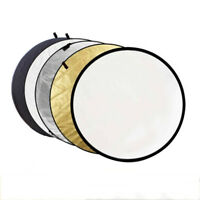 5-in-1 110CM Photograph Disc Collapsible Light Reflector Studio Multi Photo 43""