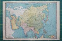 Asia Vintage Original 1895 Rand McNally World Atlas Map Lot