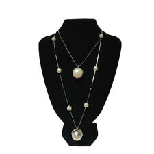 Two-layer Retro Crystal Pearl Pendant Sweater Chain Necklace