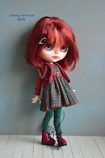 Blythe Pullip Doll Outfit  Dress +  jacket + boots  (On request)