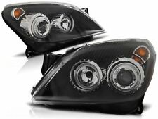 OPEL ASTRA H 2004 2005 2006 2007 2008 2009 HEADLIGHTS LPOP72 HALO BLACK