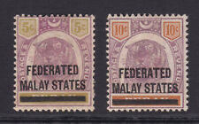 Federated Malay States.1900. SG 9 & 10.