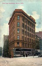 A Closeup View of the Flat Iron Building, Akron OH 1909