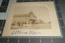 1900's MAPLE LEAF HOTEL Altona Manitoba CANADA Early Street View Vintage PHOTO
