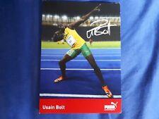 Usain Bolt Autogrammkarte mit gedruckter Unterschrift 10x15