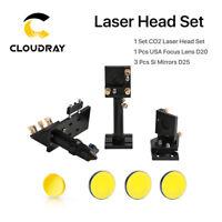 CO2 Laser Head Set 63.5mm/50.8mm Focal Set + 20mm USA ZnSe Lens + 25mm Si Mirror