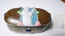 Schafer & Vater - Art Nouveau Woman Jeweled Trinket Box, Nice!
