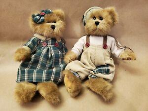 "LM Bearington Set of 2 10"" Jointed Pellet Filled Vintage Artist Teddy Bears NWOT"