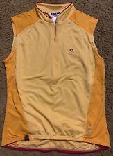 iQ Pearl iZumi Sleeveless Cycle Top Half Zipper Womens L Color Orange