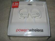 Power3 Wireless G5 Sports Wireless in Ear Headphones, White, NIB!!!