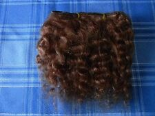 REBORN DOLL, MOHAIR WEFTS, CHESTNUT