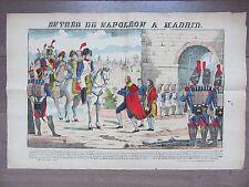 GRANDE IMAGE EPINAL 1880 ENTREE DE NAPOLEON A MADRID