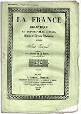 Pièce Théâtre. Palais-Royal. Le Caporal et la Payse. 1842. Paul de Kock, Varin