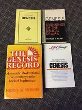 LOT OF 4 BOOKS ON GENESIS GOOD FOR AN ADULT SUNDAY SCHOOL OR BIBLE STUDY