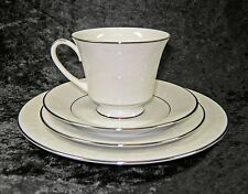 NORITAKE CHINA RANIER 6909 4 PIECE PLACE SETTING PLATE CUP SAUCER WHITE FLORAL
