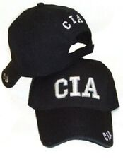 NEW CIA EMBROIDERED ADJUSTABLE BASEBALL STYLE HAT police black fbi ball cap A26